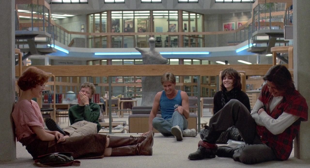 The Breakfast Club library floor